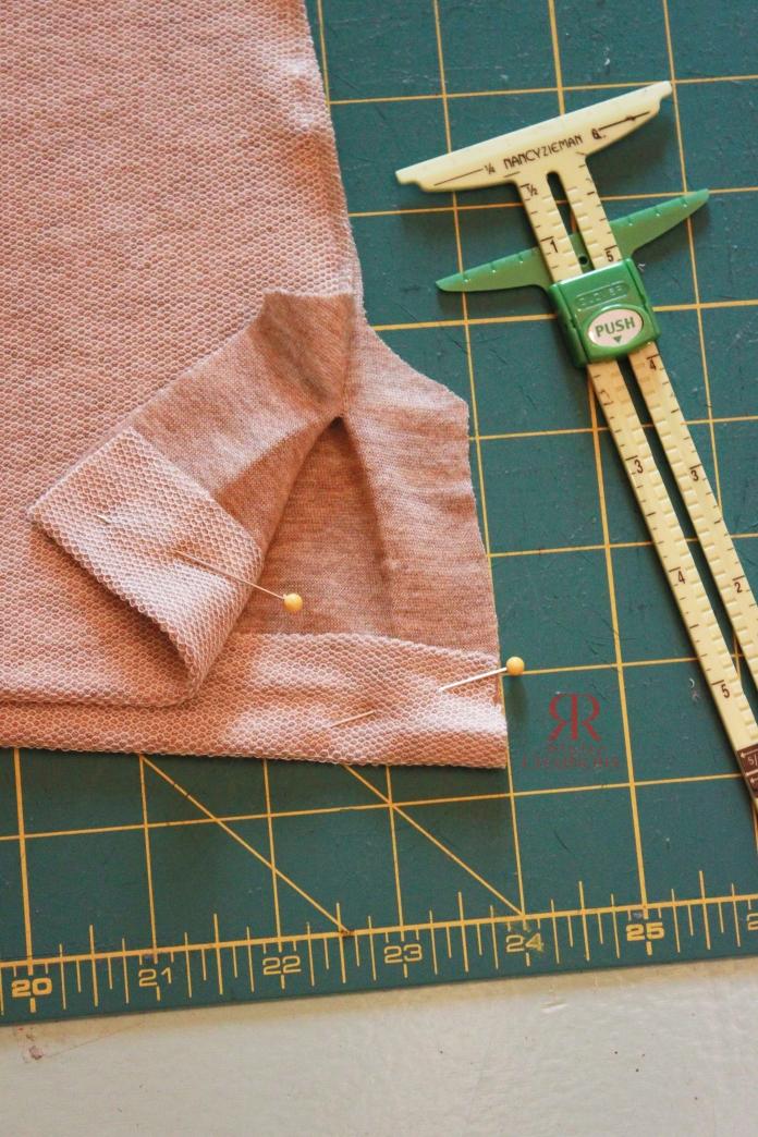 Folded up bottom edge